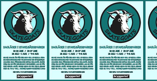 Skate Goats – Dagläger i Stapelbäddsparken i sommar 2014